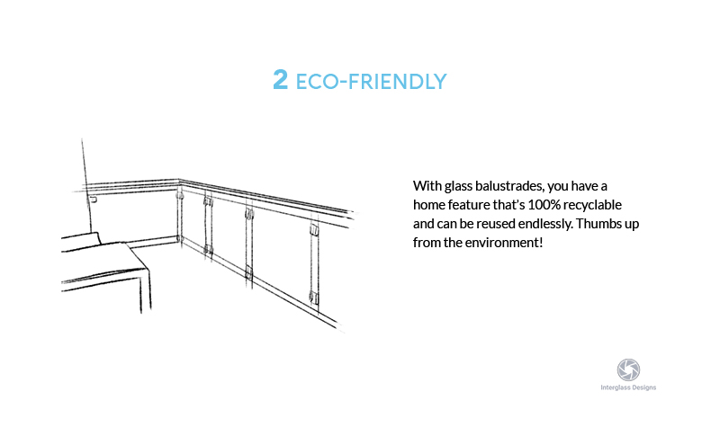 eco-friendly glass balustrades